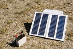 Small solar energy in outdoors royalty free stock images