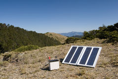 Small solar energy in outdoors Stock Image