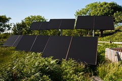 Small Solar farm for pumping water Stock Images