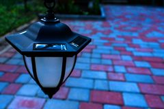 Small Solar Garden Light stock image