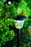 Small Solar Garden Light, Lantern In Flower Bed. Garden Design. Stock Photo