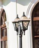 Small Solar  Light, Lanterns In Flower Bed. Garden Design. Lamp Royalty Free Stock Photography