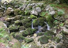 Source of pure fresh water in the mountains. Small source of pure fresh water in the mountains Royalty Free Stock Photos