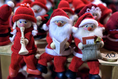 Small souvenir gnomes santa Stock Photo