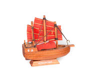 Small Souvenir Ship - Hong Kong Stock Image