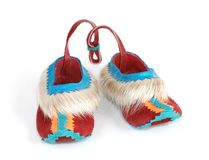 Small souvenir slippers Royalty Free Stock Photography