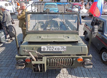 Small Soviet four-wheel drive amphibious vehicle LuAZ-967 Stock Photography