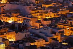 Small spanish city at sunset Royalty Free Stock Photos