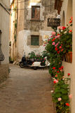 Small spanish town. Alley in small spanish town Royalty Free Stock Photography