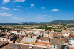 Small Spanish town in  Catalonia Royalty Free Stock Images