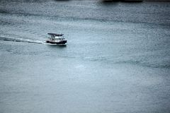 White boat in the sea. royalty free stock photography