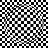 Spherical squared pattern. Illustration of spherical black and white squared pattern Stock Illustration