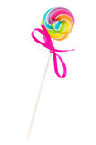 Small spiral lolly pop candy Royalty Free Stock Photo