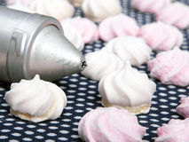 Small spiral meringues Royalty Free Stock Image