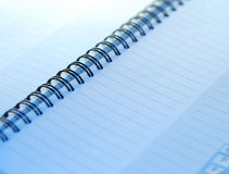 A small spiral notebook Stock Image