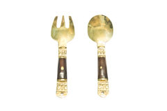 Small Spoon and fork, keepsake Royalty Free Stock Images