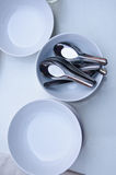 Small spoons and  Bowl Royalty Free Stock Images