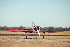 Small sport airplane at the airport. Royalty Free Stock Photography