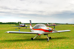 Small sportive plane Stock Photography