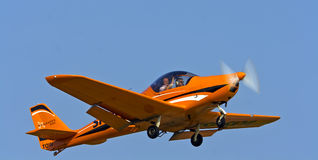 Small sports plane when performing aerobatics Royalty Free Stock Photography