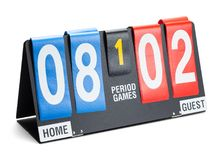 Score Board Side Royalty Free Stock Photos