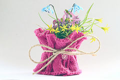 Small spring bouquet on white background Royalty Free Stock Images
