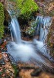 Small spring waterfall Royalty Free Stock Photos