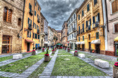 Small square in Alghero Royalty Free Stock Images