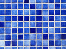Small square blue tiles background. Royalty Free Stock Photo