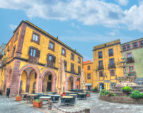 Small square in Bosa Royalty Free Stock Photo