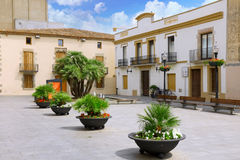 Small square in Calella. Spain. Small square in the minor Spanish town Calella. Spain stock photography
