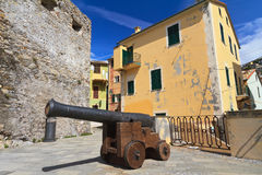 Small square with cannon Stock Photography