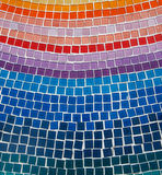 Tile. Small square colorful tile arrange as background Stock Images