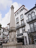 Small Square with Fountain near the Cathedral in Funchal on the Island of Madiera Royalty Free Stock Photo