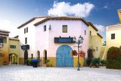 Small Square In Calella. Spain. Stock Image