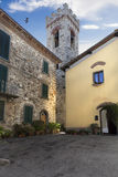 Small square in Italy Stock Images