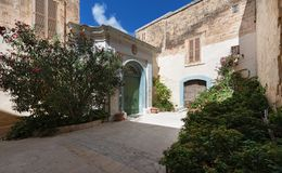Small Square in Mdina Malta Stock Photo