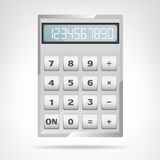 Small square metallic calculator object isolated Royalty Free Stock Photos
