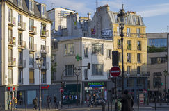 A small square in Montmartre, Paris. Stock Photography