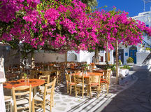 Small square in Mykonos royalty free stock images