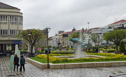 The small square near Gardens of Santa Barbara in Braga Royalty Free Stock Images