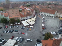 Small Square (Piata Mica), Sibiu Royalty Free Stock Photography