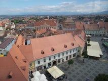 Small Square (Piata Mica), Sibiu Royalty Free Stock Photos