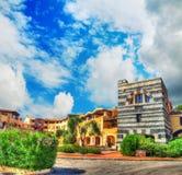 Small square in Porto Cervo Stock Image