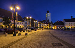 Small square of Sibiu Royalty Free Stock Photos