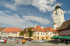 The Small Square Of Sibiu royalty free stock photography