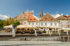 The Small Square In Sibiu royalty free stock photography