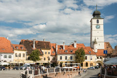 The Small Square Of Sibiu Stock Photos