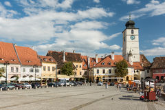 The Small Square Of Sibiu Stock Photo