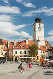 The Small Square Of Sibiu Royalty Free Stock Image